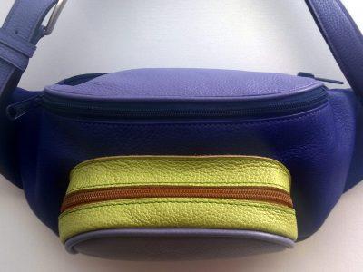 Alice Angevin, Les Sacs à M'Alice, Banane rectangulaire violet,parme,anis, Joyce Gallery
