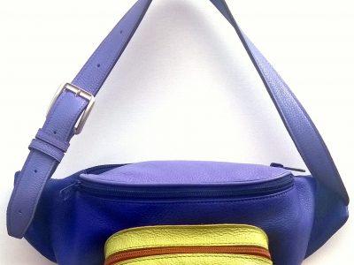 Alice Angevin, Les Sacs à M'Alice, Banane rectangulaire violet,parme,anis