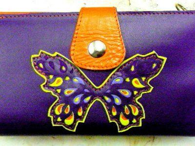 Alice Angevin, Les Sacs à M'Alice Compagnon violet papillon dentelles