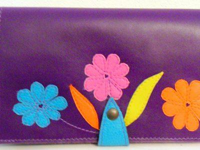 Alice Angevin, Les Sacs à M'Alice Compagnon violet trois fleurs
