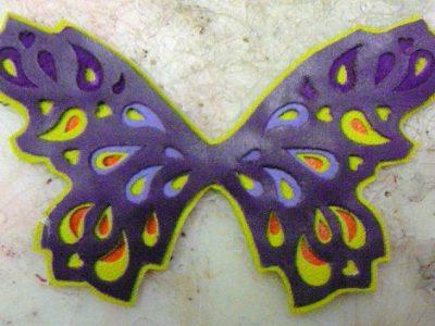 Alice Angevin, Les Sacs à M'Alice Découpe papillon violet