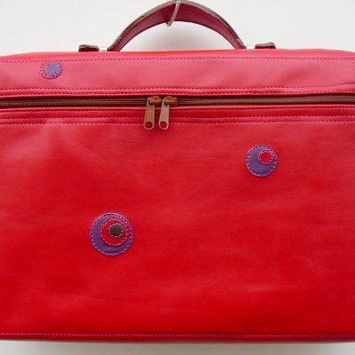Alice Angevin, Les Sacs à M'Alice Housse à PC Portable Zippée, vachette rouge
