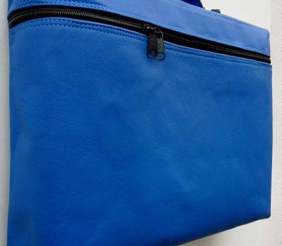 Alice Angevin, Les Sacs à M'Alice Housse à PC Portable Zippée veau bleu dur, coté