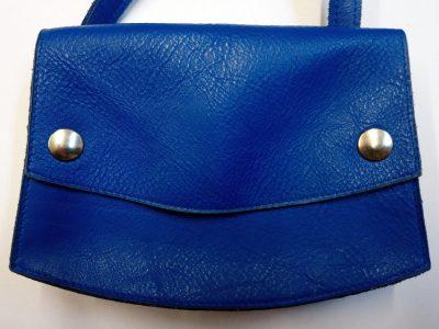 Alice Angevin, Les Sacs à M'Alice, Pochette 19.5x14x4 à la ceinture Bleu dur