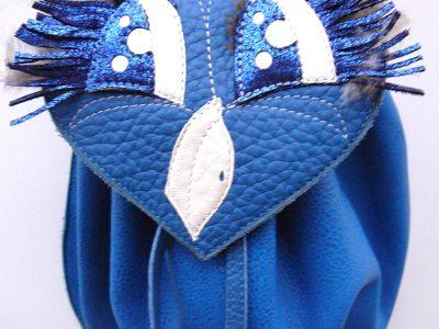 Alice Angevin, Les Sacs à M'Alice Pochette Aumonière bleue chouette