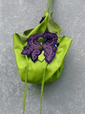 Alice Angevin, Les Sacs à M'Alice, Pochette Bonbon Anis, Iris violet