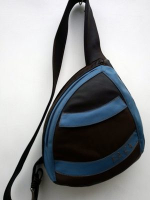 Alice Angevin, Les Sacs à M'Alice Sac Holster T2 Marron galonné bleu