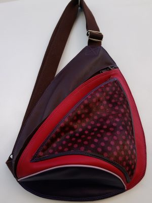 Alice Angevin, Les Sacs à M'Alice Sac Holster T3 Marron Rouge