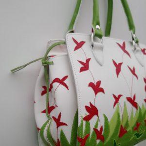 Alice Angevin, Les Sacs à M'Alice, Sac à Main Kéko Fleurs rouges, coté