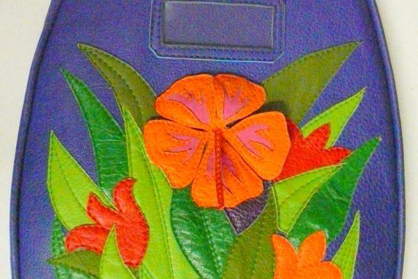 Alice Angevin, Les Sacs à M'Alice Sac de voyage rêve d'hiver 41cuirs coté soleil, 55x40x26cm, cote fleur