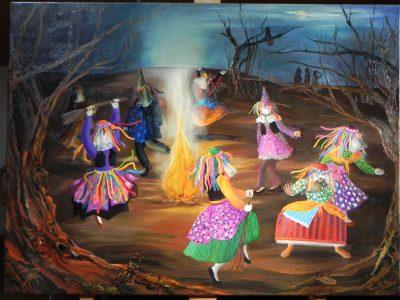 Les Sacs à M'Alice,Alice Angevin, Tableau de Marie Thiry-Merlo